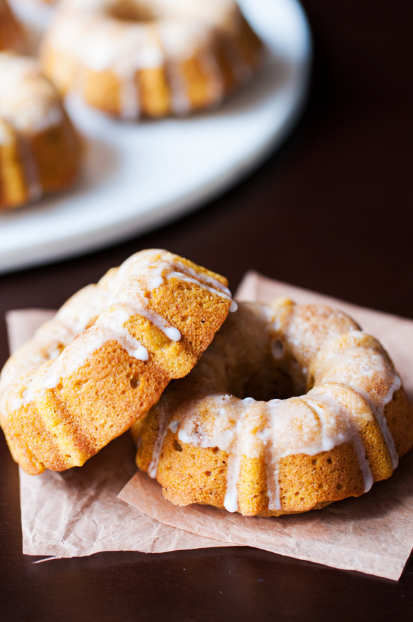 Brown butter baked pumpkin donut crullers. Who says you need a donut pan to bake donuts?