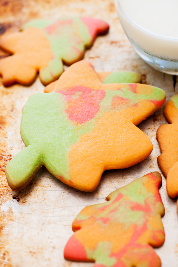 sugar cookies, fall, leaves, holiday baking, autumn