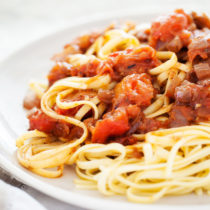 A classic Chunky Marinara Sauce made from fresh tomatoes and seasoned with pantry staples!