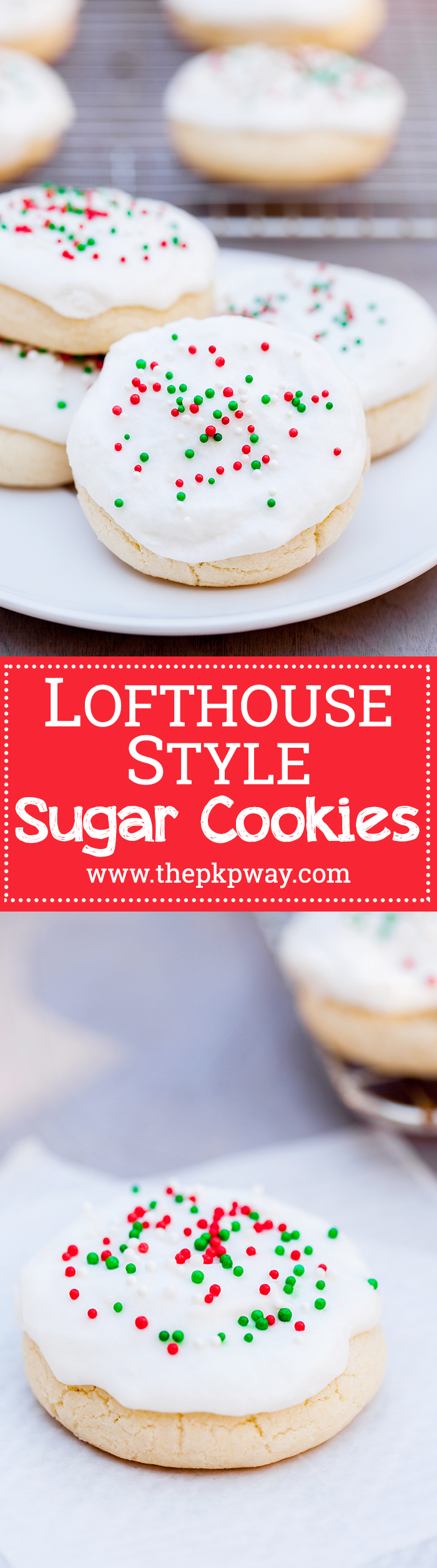 Homemade lofthouse style sugar cookies - simple and nostalgic