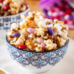 Caramel and Dark Chocolate M&M's Popcorn