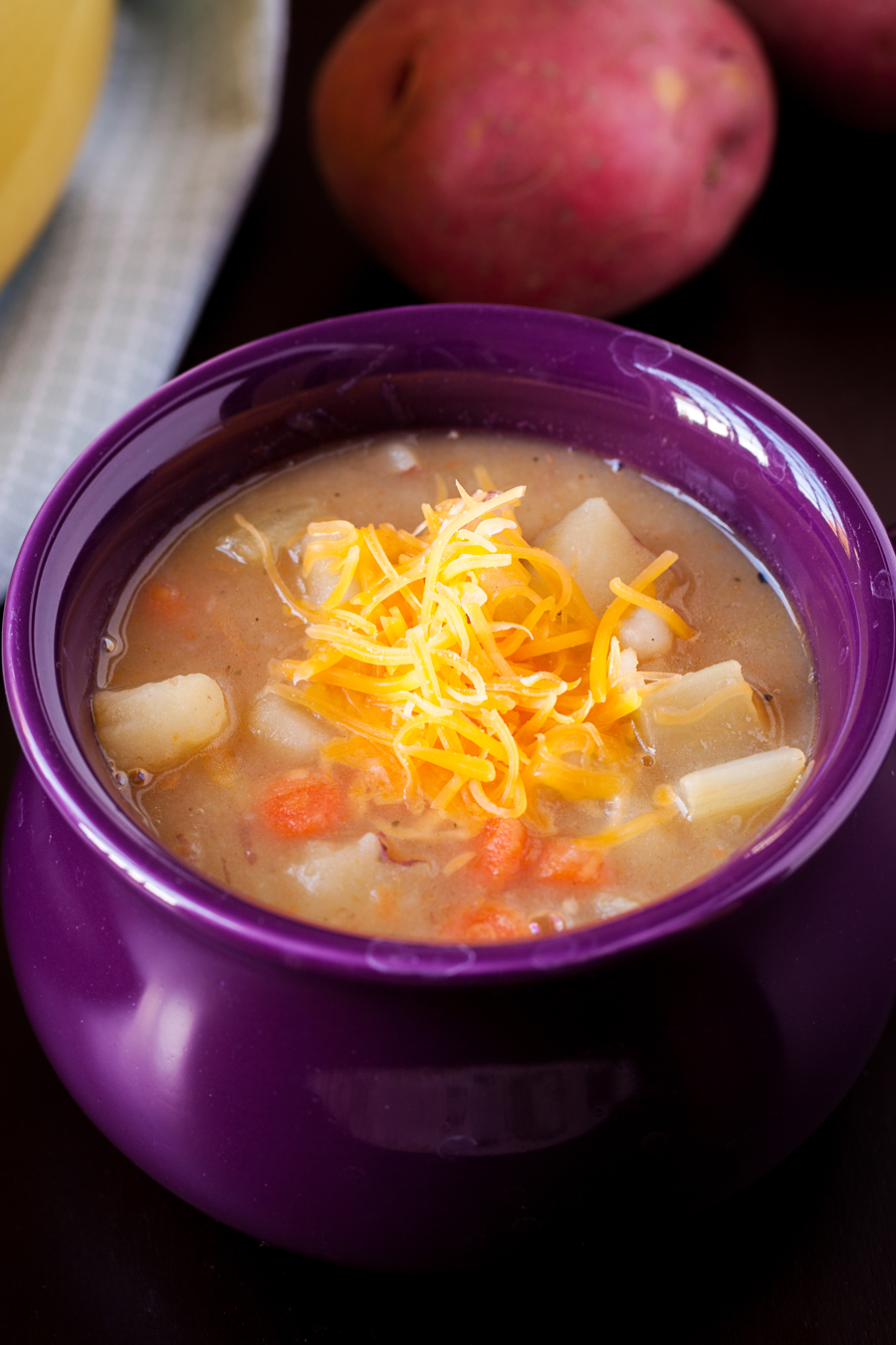 This potato soup will warm and nourish your insides!