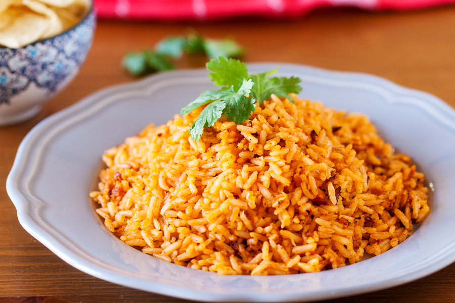 Authentic Mexican Restaurant Style Rice