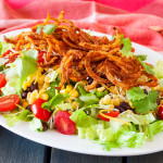 Spiralized Potato Taco Salad