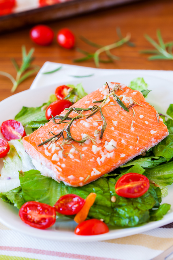 Roasted Salmon With Thyme Vinaigrette Recipes — Dishmaps