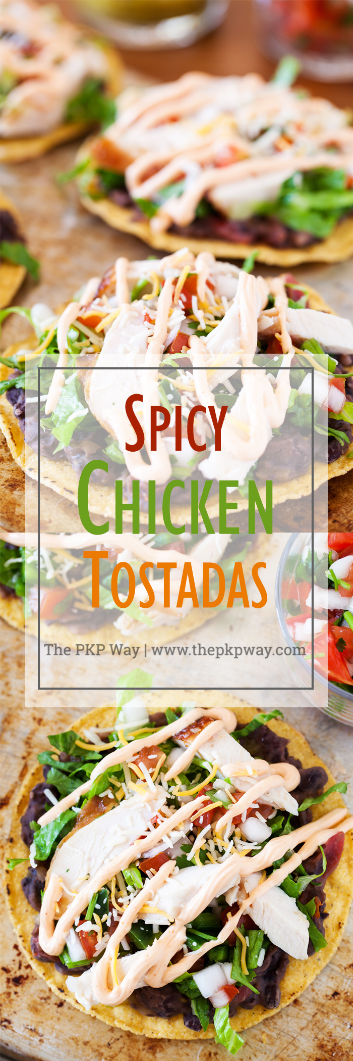 These spicy chicken tostadas are so easy and can be thrown together in minutes for a no-planning-involved Cinco de Mayo celebration or a twist on taco nights.