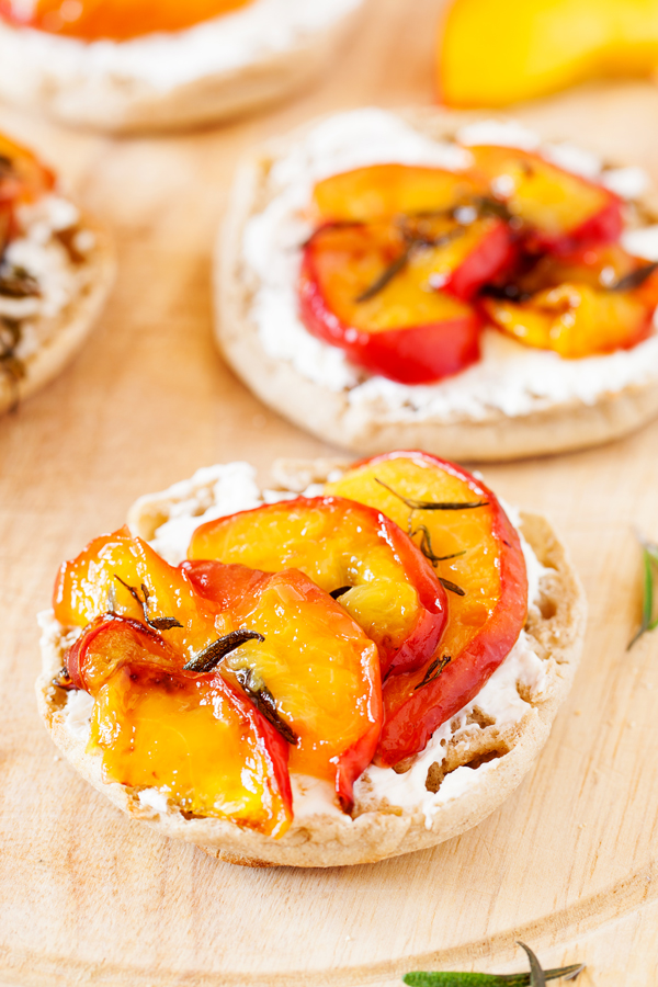 Learn how to achieve perfect peach slices for use in these Baked Peaches Breakfast Toasts and all of your favorite peach recipes.