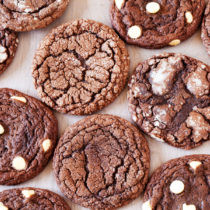These Chocolate Cookies are soft and chewy and with just one Chocolate Cookie Dough, you can make three kinds of cookies!