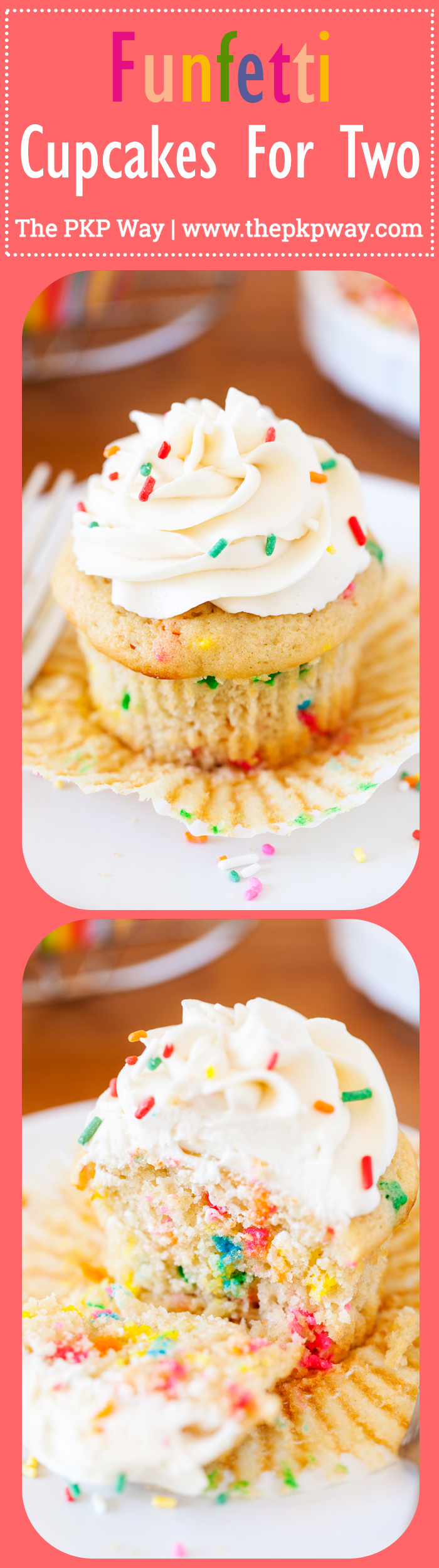 These Funfetti Cupcakes for Two are soft, fluffy, and perfect for moments when you just have to have a cupcake! Enjoy one and share the other (or save it for later).