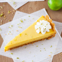In this Mango Key Lime Tart, mango and key lime work together to create a sweet and sour, custard-like filling that sits atop a buttery graham cracker crust. The perfect dessert for summer BBQ's, potlucks, and get-togethers.