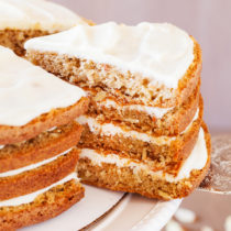 The addition of a secret ingredient makes this 4-Layer Moist Carrot Cake irresistible and addicting!