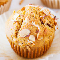 Don't waste that extra sourdough starter. Use them to make these Coconut Almond Sourdough Starter Muffins!