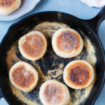 These Sourdough English Muffins are made using sourdough starter discard for the freshest and most divine English muffin you've ever had!