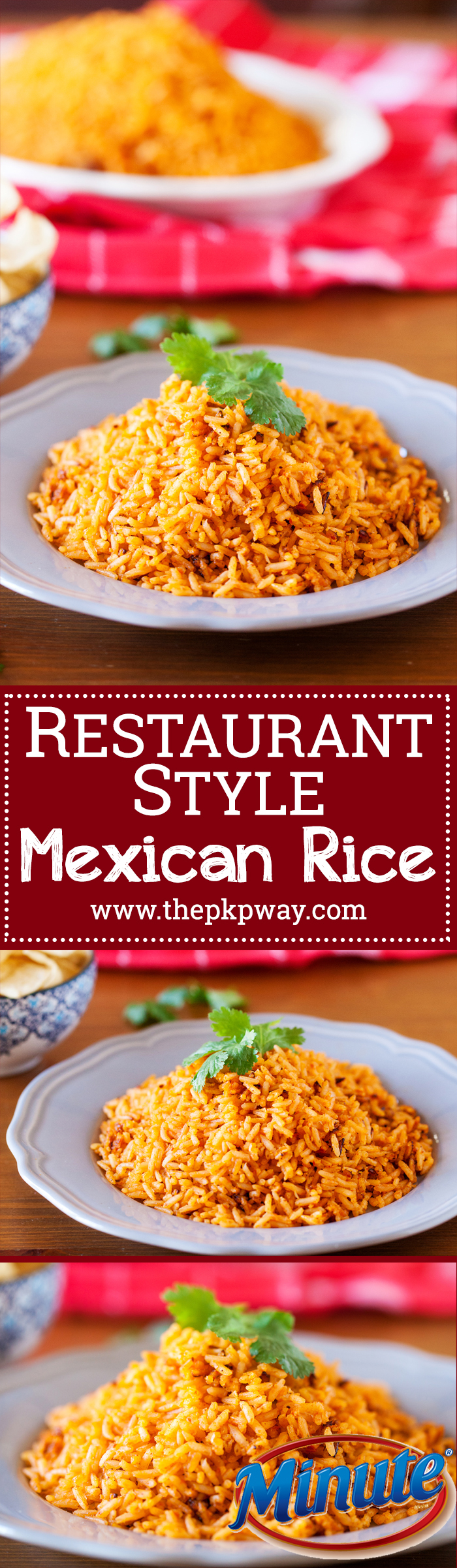 Authentic Restaurant Style Mexican Rice ready in 25 minutes! Or, 7 minutes when using my shortcut!