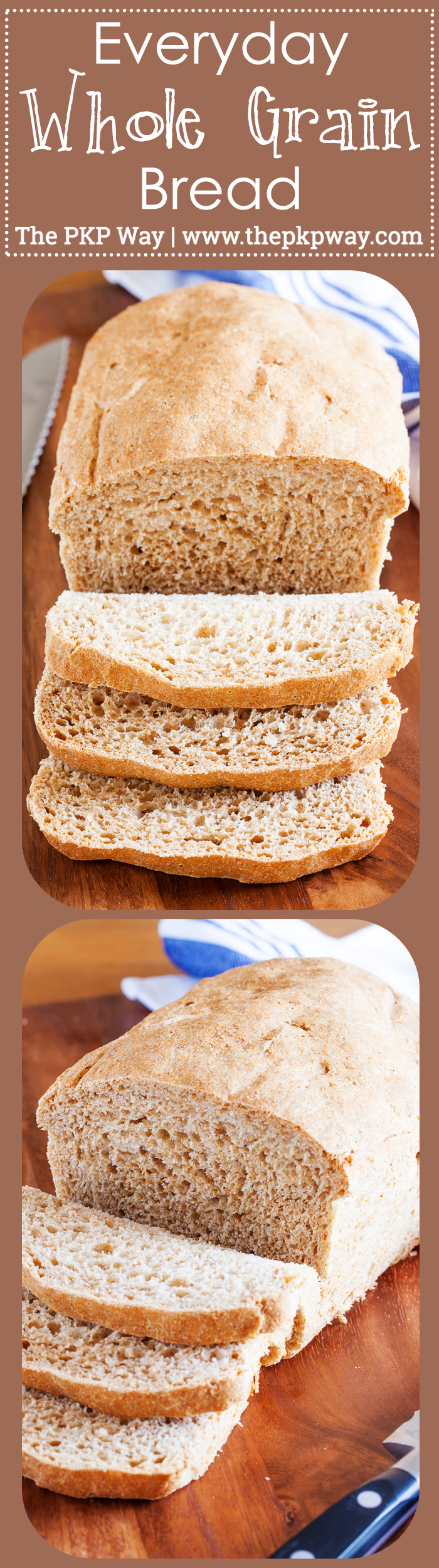 Skip the sandwich bread at the store and make this Everyday Whole Grain Bread instead!