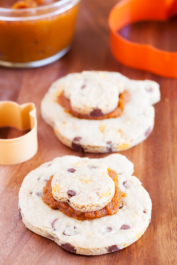 Begin cookie decorating season early with these Pumpkin Chocolate Chip Cookies with Pumpkin Butter.