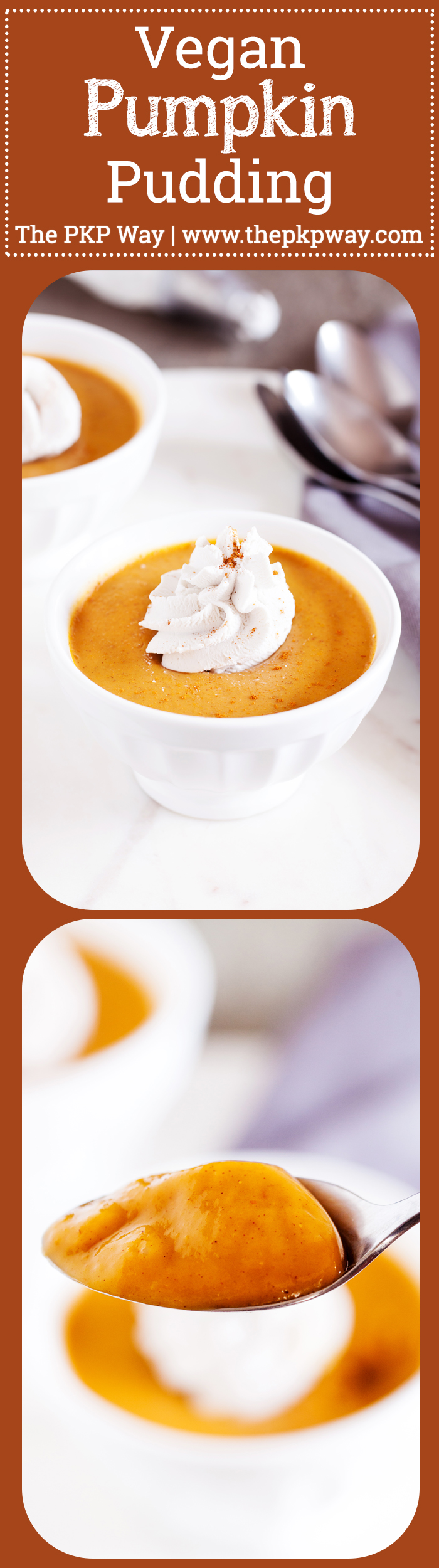 Creamy and dairy-free, this Vegan Pumpkin Pudding gives you a mouthful of pumpkin and warm fall flavors in every bite!