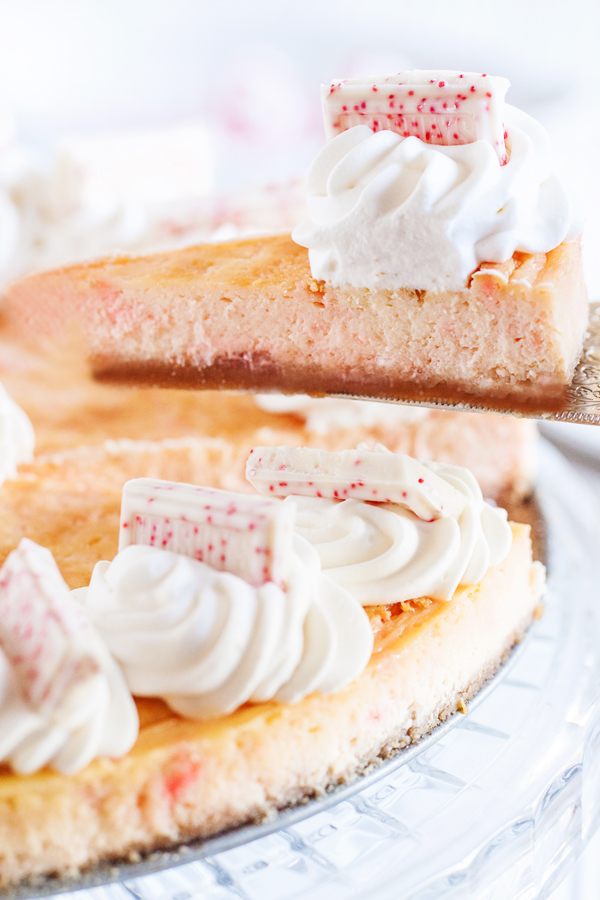 This Celebratory Peppermint Cheesecake Will Make A Festive Addition To Any New Year Party Dessert Table