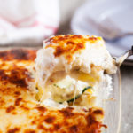 Roasted Garlic White Lasagna with Zucchini and Italian Sausage