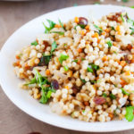 Lemon Israeli Couscous with Dates and Walnuts {VIDEO}
