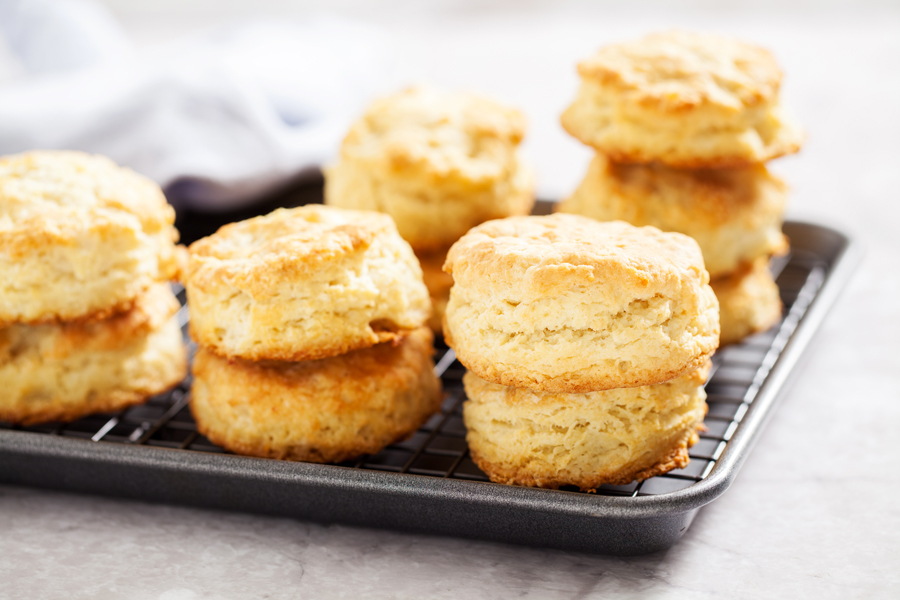 Two ways to make fluffy Buttermilk Biscuits using 7 simple ingredients.