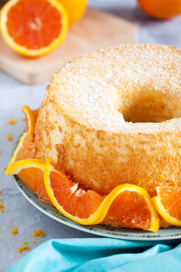 Light, moist, fluffy, and airy, Orange Angel Food Cake offers zero guilt and all pleasure.