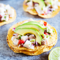 Be transported to Mexico with delicious and refreshing Ceviche Tostadas.