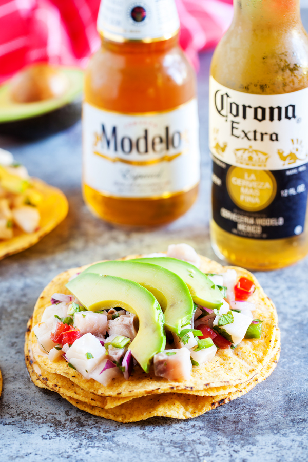 Transport yourself to Mexico with delicious and refreshing Ceviche Tostadas.