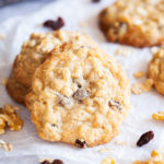 Chewy Oatmeal, Raisin & Walnut Cookies