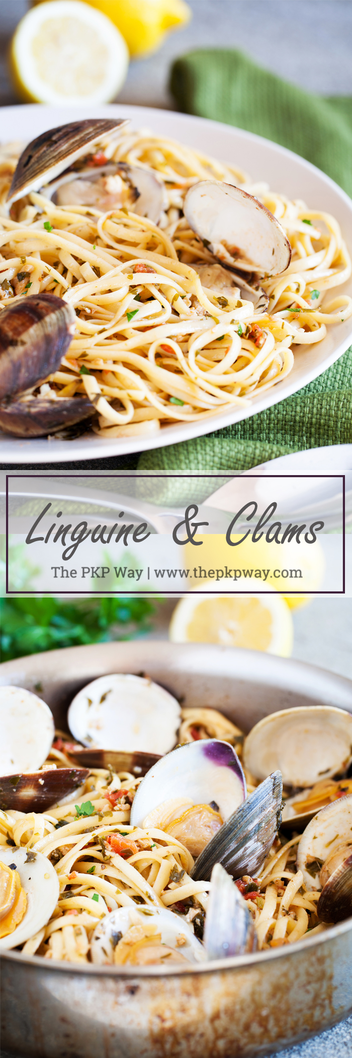Your go-to Linguine and Clams recipe, made using fresh lemon juice, white wine, and fresh clams.