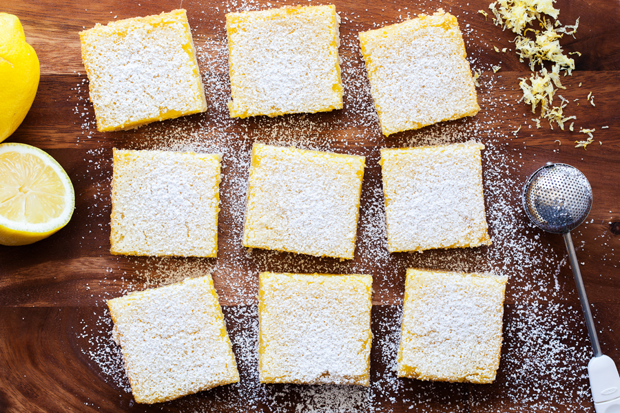 Always a classic, these Lemon Bars feature a silky smooth lemon filling over a melt-in-your-mouth shortbread crust.
