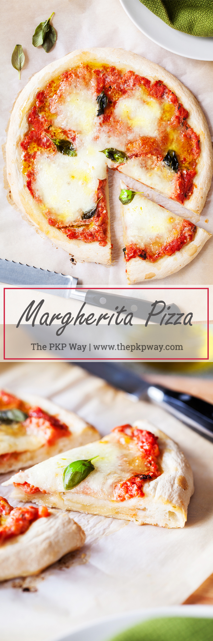 A classic and always a favorite, this Margherita Pizza layers fresh mozzarella, basil, and olive oil on top of a homemade pizza sauce and from-scratch crust.