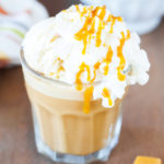 French Vanilla and Caramel Affogato Frappe