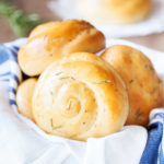 Rosemary Dinner Rolls use fresh rosemary in an easy to handle dough for an incredibly fragrant and beautiful dinner roll.