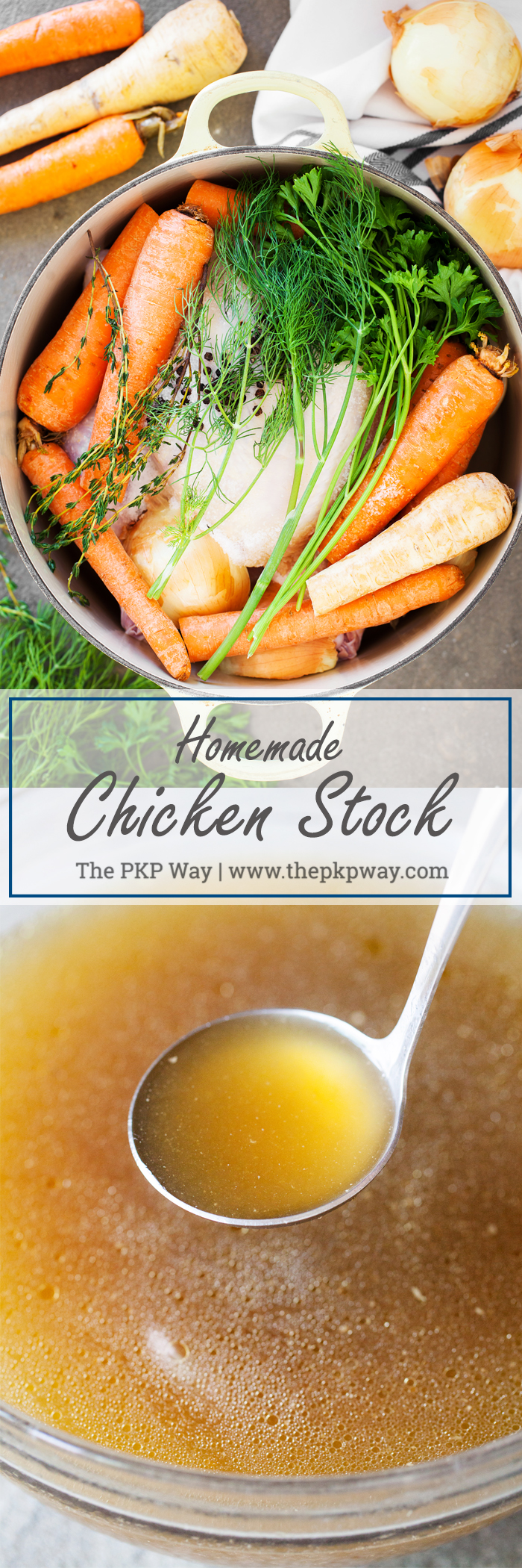 Fresh, homemade chicken stock that will make you rethink picking up that carton the next time you're at the store.