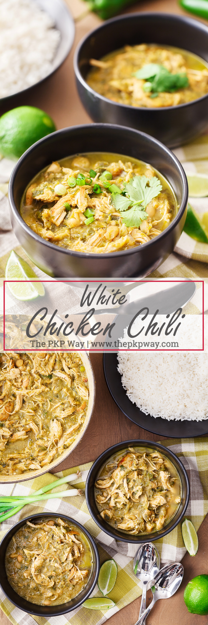 Thick and flavorful White Chicken Chili has THREE kinds of chilies and flavor-building steps for a mouthful of depth and complex flavors with every bite.