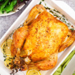 A perfect roast chicken, complete with gravy, can be ready to serve on your dinner table in under two hours and with only a handful of ingredients!