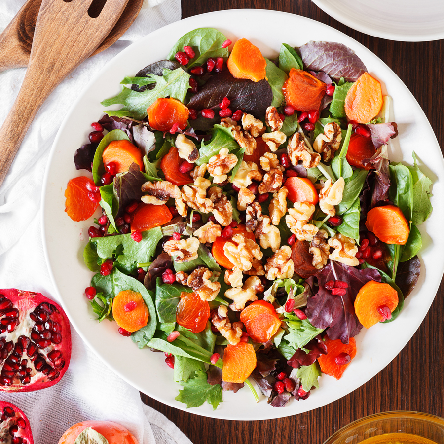 Persimmon and Pomegranate Salad | The PKP Way