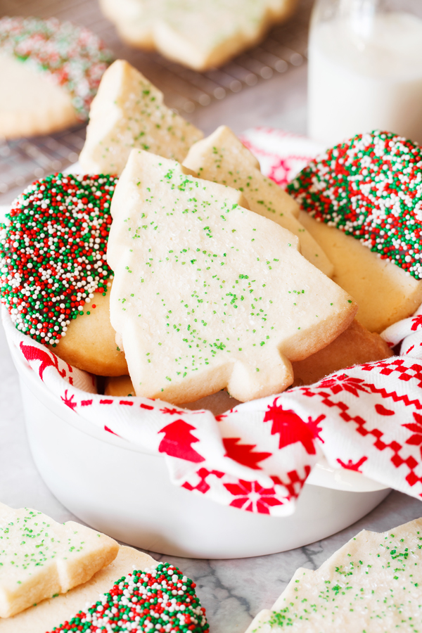 Thick and buttery, these shortbread cookies have a melt-in-your-mouth quality and will become a family favorite year round.