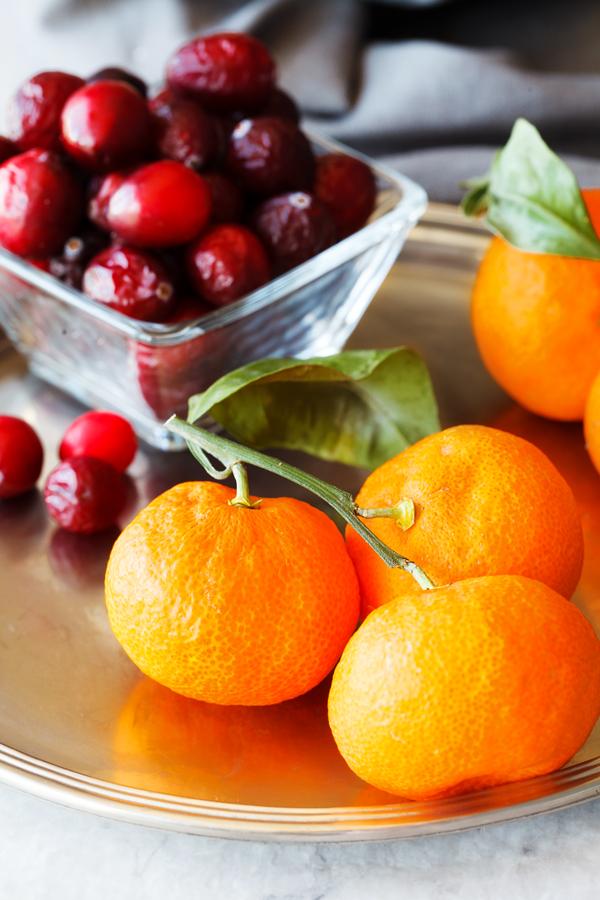 Tangerine and Cranberries