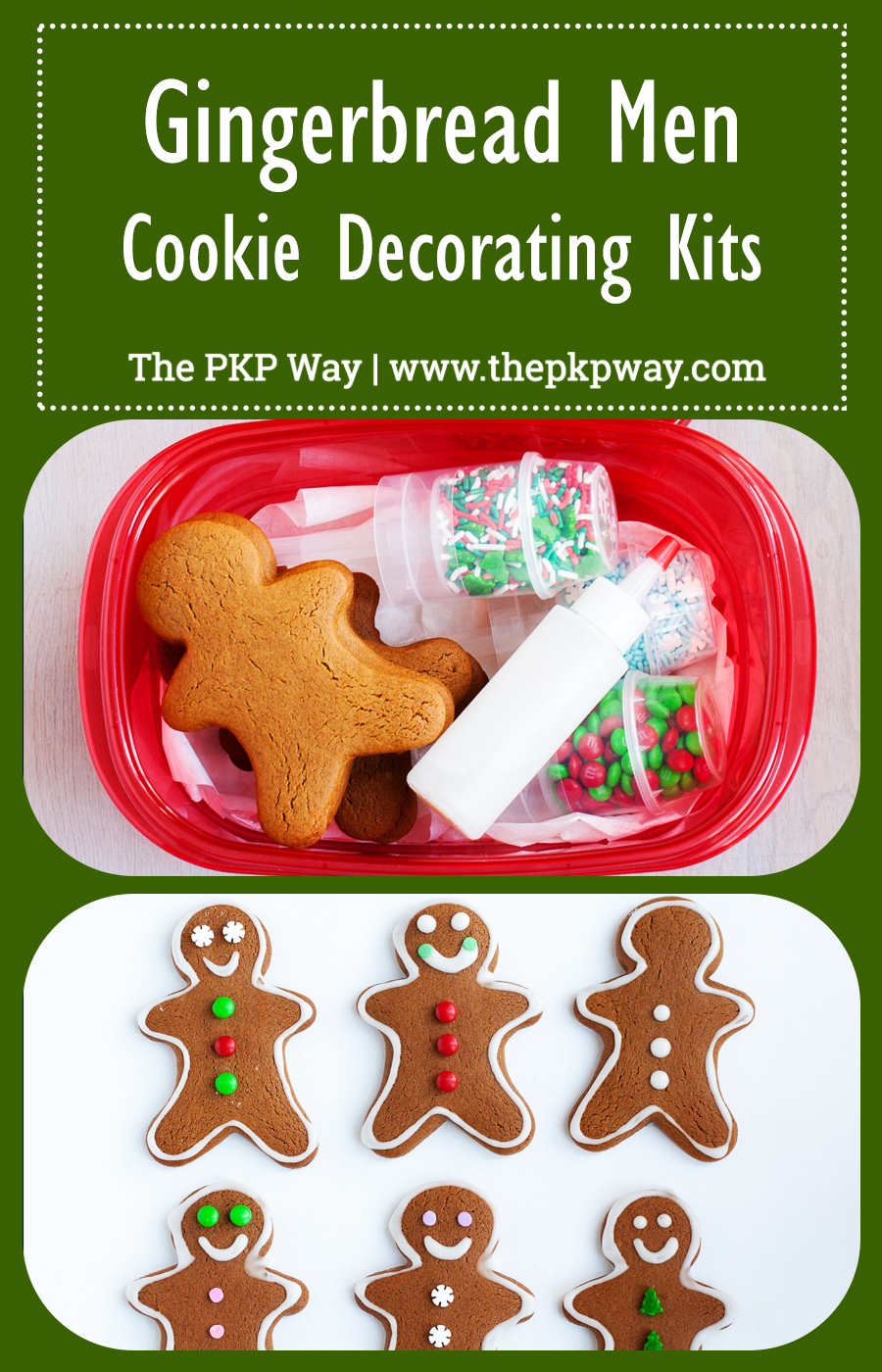 Christmas Cookie Decorating Kit.Gingerbread Men Cookie Decorating Kits The Pkp Way