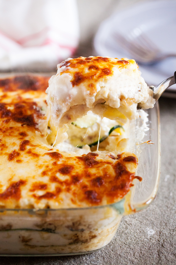 Roasted Garlic White Lasagna With Zucchini And Italian Sausage The Pkp Way