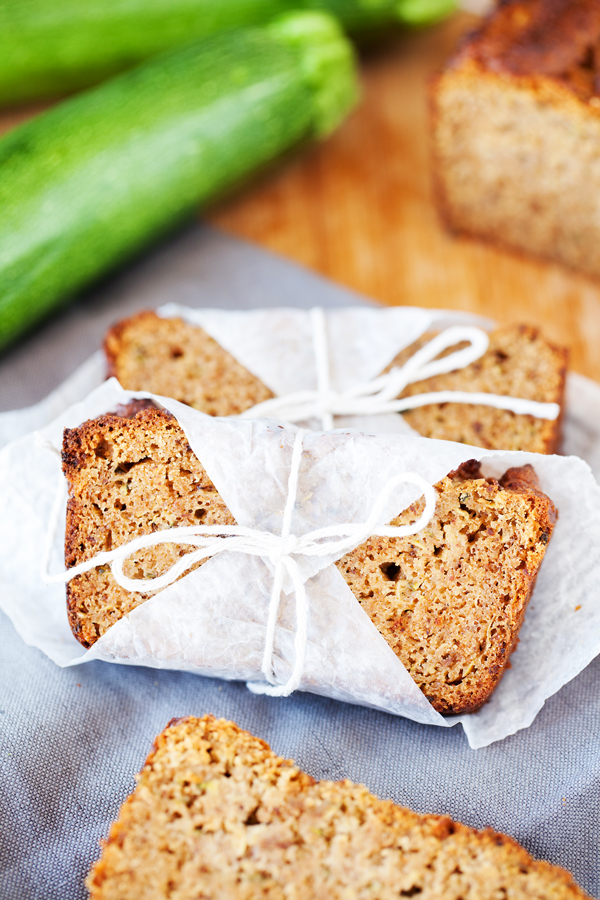 Zucchini bread the pkp way sliced zucchini bread wrapped in parchment paper and tied with string forumfinder Image collections