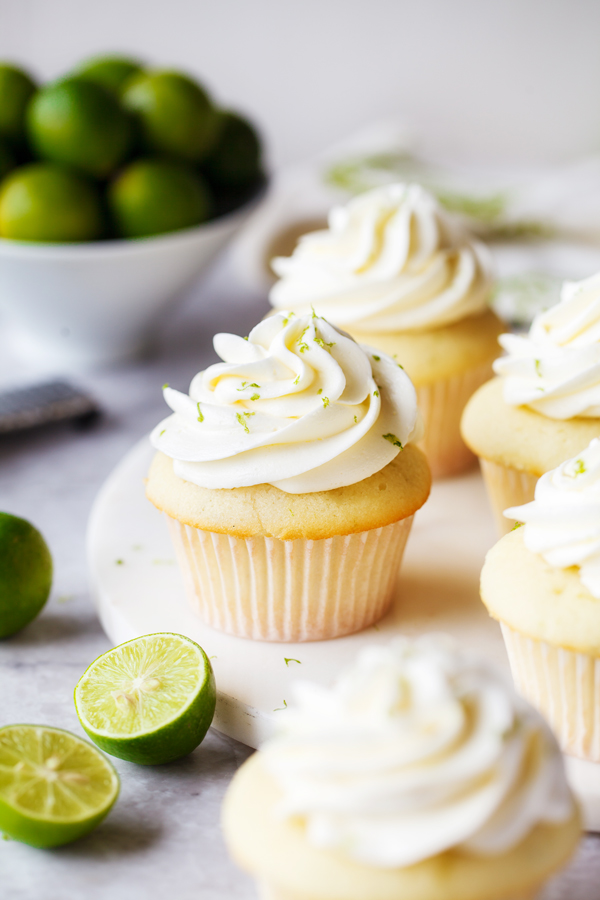 Key Lime Cupcakes With Ercream